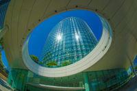 Yokohama Minato Mirai of the city and blue sky