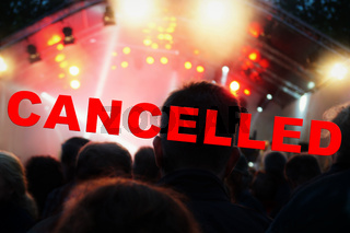 cancelled music festival or concert event