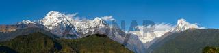 The Annapurna range panoramic view