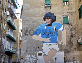Naples Campania Italy. Made on the occasion of the second Scudetto of Napoli