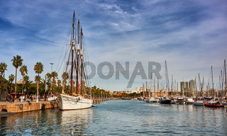 Barcelona Marina in Spain