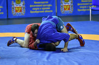 Orenburg, Russia - October 25-26, 2019: Boys competitions Self-defense without weapons in the Champi
