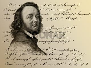 Hermann Ferdinand Freiligrath, 1810 - 1876, German poet