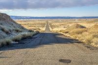 Old Cisco Highway on a desert in eastern Utah