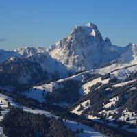 Gummfluh, mountain near Gstaad, Switzerland.