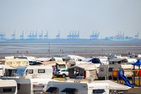 Camping by the Wadden Sea in Germany, Butjadingen, 16.08.2020