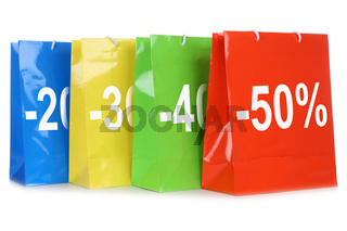 Taschen oder Einkaufstüten mit Rabatten fürs Shopping