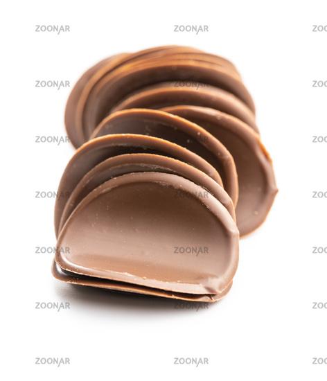 Dark chocolate chips.