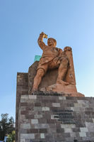 The Pípila, a stone monument statue dedicated to a hero of the War of Independence