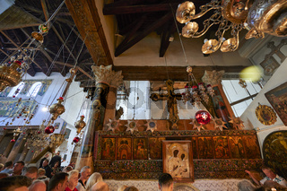 Jerusalem Bethlehem Israel. The church of the nativity birthplace of Jesus