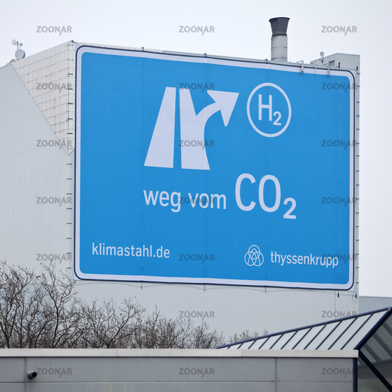 Large poster near the A 40 motorway,