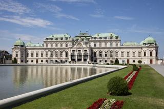 Park und Schloss Belvedere, Wien, Oesterreich, Europa