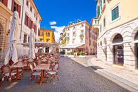 Street of Verona cafe and architecture view