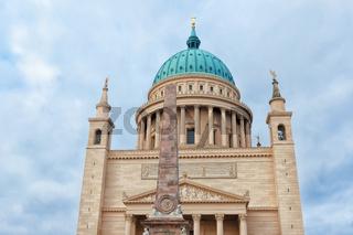 View of St. Nicholas Church (Nikolaikirche) with stella
