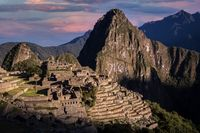 Sunrise at Machu Picchu Inca city, Peru