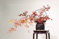 oriental style flower arrangement