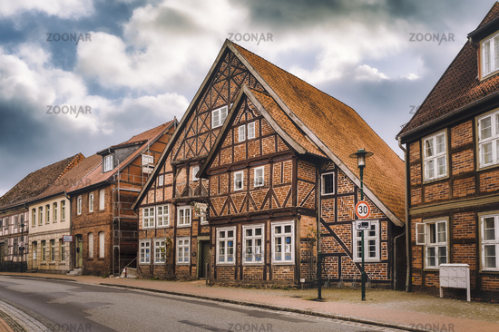 Old half-timbered houses on the main street
