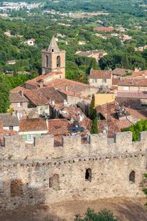 Stadtansicht von Grimaud-Village