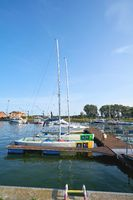 Sport boats in the marina of Swinoujscie on the Polish Baltic coast