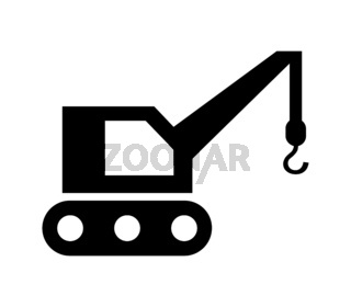 crane icon illustrated in vector on white background