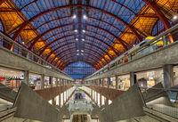 Morning light inside the central station in Antwerp, Belgium.