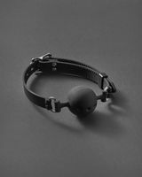 BDSM ball gag with openings.