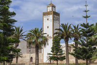 City view of Essaouira with minaret, Morocco, Africa.