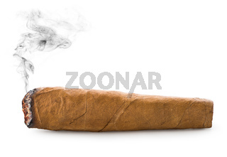 Cigar on white