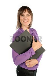 Frau mit Mappe