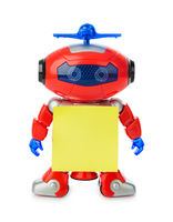 Toy robot with blank paper