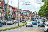 The Main Bazaar is one of the oldest streets of the old Kuching on Borneo in Malaysia