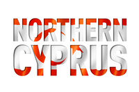 Northern Cyprus flag text font