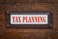 tax planning - file cabinet label