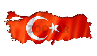 Turkish flag map