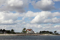 Pilot house and Lotsen-island near Schleimünde at the Baltic Sea