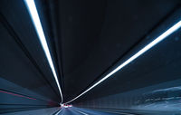 Tunnel of images (long exposure)