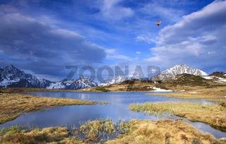 Bergsee in den Alpen,Südtirol,Italien