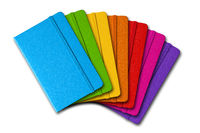 Multi color closed notebooks range