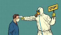 Temperature measurement Stop doctor quarantine Novel Wuhan coronavirus 2019-nCoV epidemic outbreak