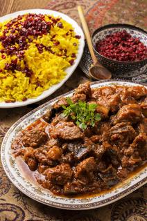 persian lamb ragout xoresht-a badenjan
