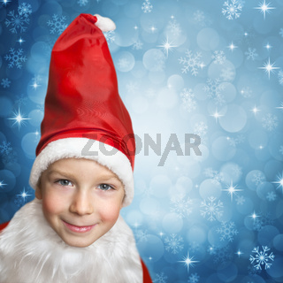 child in santa clothes
