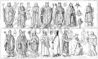 medieval vestments, Ornate im  Mittelalter