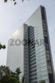 Dreischeibenhaus in Düsseldorf, NRW, Deutschland, 2014