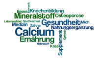 Word Cloud on a white background - Calcium (German)