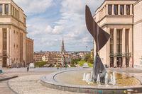 View over Brussels from Mont des Arts (Kunstberg)