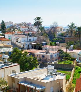Paphos skylin sunny day, Cyprus