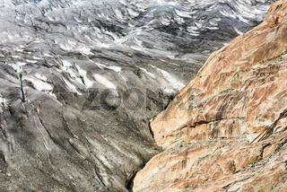 Eis und Fels - Aletschgletscher Schweiz