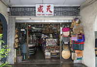 Traditional Chinese goldsmith shop in Main Bazaar, Kuching, Malaysia