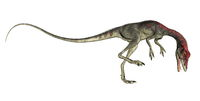 Compsognathus dinosaur roaring - 3D render