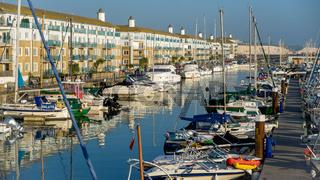 Boats in the Marina in Brighton